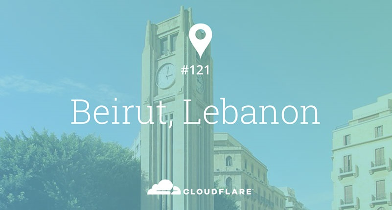 Marhaba Beirut! Cloudflare's 121st location
