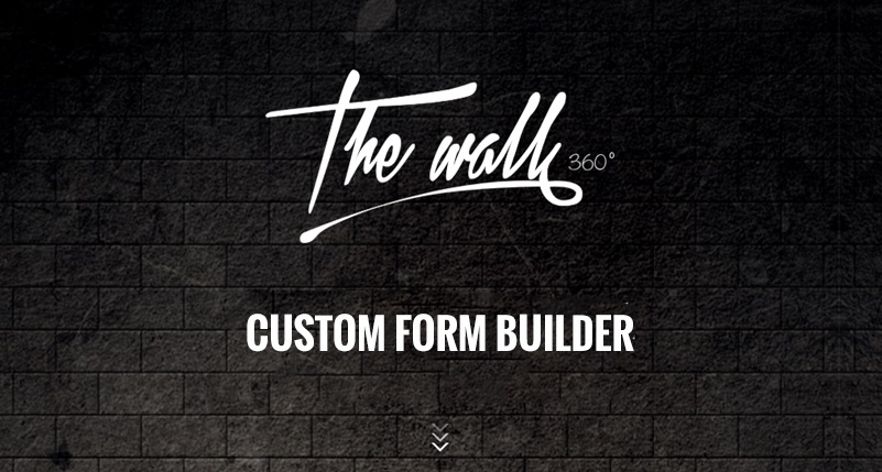 TheWALL 360 | Introducing Custom Form Builder for website frontend and backend