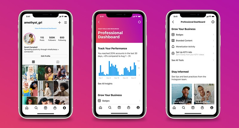 Introducing Instagram Professional Dashboard
