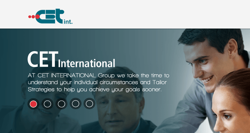 Another One Pager is launched: CET international, a parallax scrolling website.