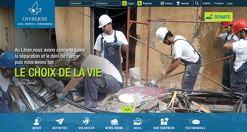 Offre joie and Softimpact put together a trilingual website.