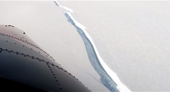 Iceberg bigger than New York City breaks off ice shelf in Antarctica